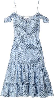 Altuzarra Friday Cold-shoulder Floral-print Silk-crepe Dress