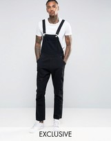 Liquor & Poker Overalls Straight Fit Extreme Rips Black