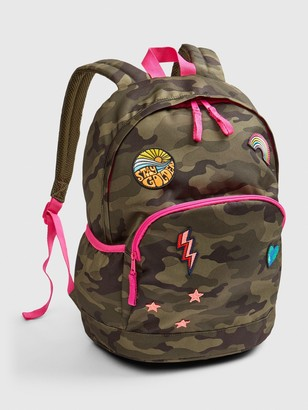Gap Kids Camo Patch Senior Backpack