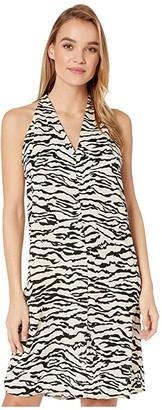 Bishop + Young Untamed T-Back Dress (Zebra Print) Women's Dress
