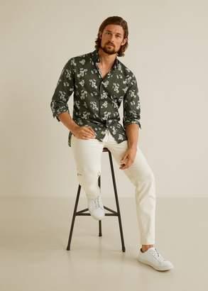 MANGO Regular fit floral print shirt