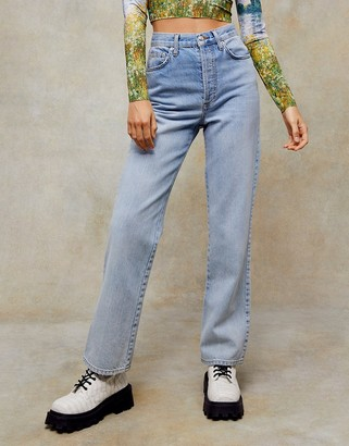 Topshop parallel jeans in bleach