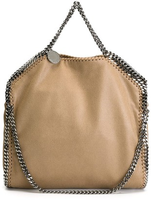Stella McCartney Falabella Bag In Metallic Suede With 3 Chains