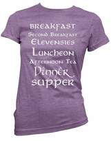 Brain Juice Tees Second Breakfast Lord Of The Rings Womens Junior Fit Shirt