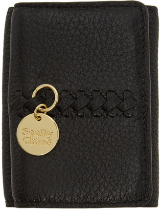 See by Chloe Black Mini Tilda Trifold Wallet