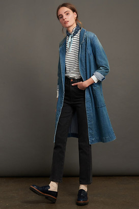 Anthropologie Peggy Denim Duster Jacket By in Blue Size XS
