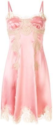 Dolce & Gabbana Flared Lace-Panels Dress