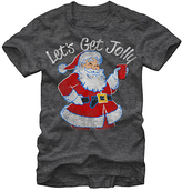 Fifth Sun Heather Charcoal 'Let's Get Jolly' Santa Tee