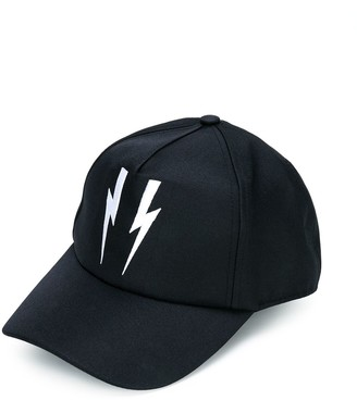 Neil Barrett Kids Lightning Bolt Cap