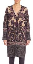 Etro Intarsia V-Neck Knit Coat