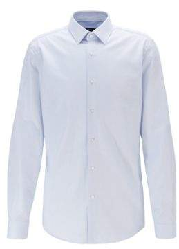 BOSS Slim-fit shirt in cotton with aloe vera finishing