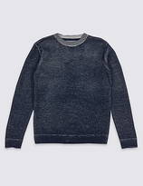 Marks and Spencer Cotton Blend Knitted Sweatshirt (3-14 Years)