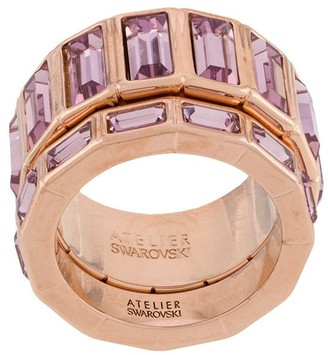 Swarovski Fluid stacking rings