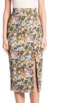Cushnie et Ochs Stretch Floral Skirt