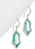 Judith Ripka Martinique Silver 19.48 Ct. Tw. Gemstone Earrings
