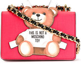 Moschino paper toy bear shoulder bag - women - Leather - One Size