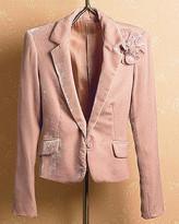Spiegel Corsage-Pin Velvet Jacket