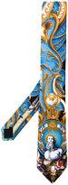 Versace Greek-printed tie