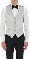 Barneys New York Men's Satin Tuxedo Waistcoat-SILVER