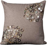 Nourison Luminescence Shell Circles and Buttons Pillow