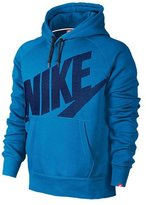 Nike Mens AW77 Fleece PO Hooded Sweatshirt Photo Blue/Deep 576978-463