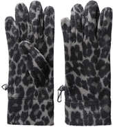 Joe Fresh Women's Leopard Print Fleece Gloves, Grey (Size M/L)