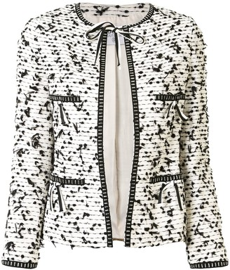 Chanel Pre Owned Tweed Collarless Jacket
