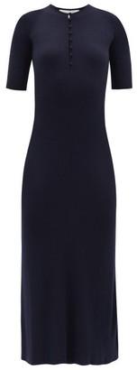 Gabriela Hearst Johanna Ribbed Cashmere-blend Knitted Dress - Navy