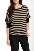 Sisters Lace Back Stripe Pullover