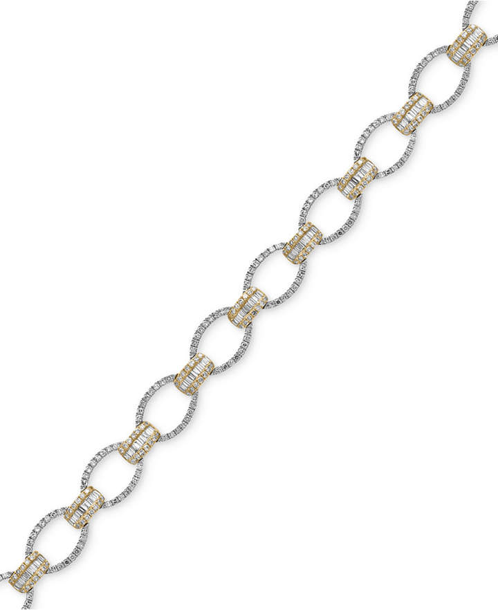 Effy Duo by Diamond Tennis Bracelet (2 ct. t.w.) in 14k White and Yellow Gold