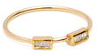 Maiyet 18K Yellow Gold & 0.11 Total Ct. Baguette Diamond Stackable Ring