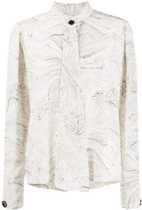 Lemaire marble print blouse