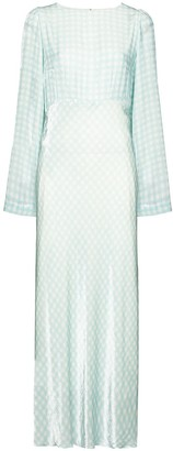 BERNADETTE Jane gingham maxi dress