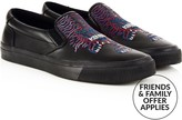 Kenzo Men's Embroidered Tiger Slip On Trainers- Black
