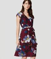 LOFT Petite Floral Wrap Dress