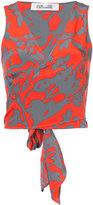 Diane von Furstenberg floral wrap top