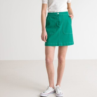 La Redoute Collections Double Patch Pocket A-Line Mini Skirt