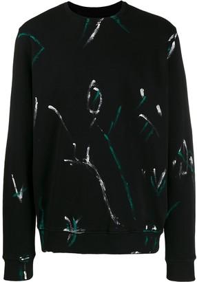 Les Hommes Contrast Print Sweatshirt