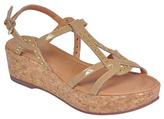 Corso Como Beige Patent Sandi Cork-Wrapped Wedge Sandal