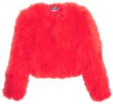 Alexander McQueen Feather Jacket - Red