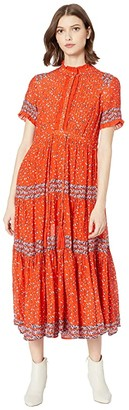 Free People Rare Feeling Maxi (Red Combo) Women's Clothing