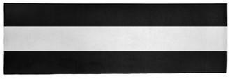 "Striped Black/White Area Rug East Urban Home Rug Size: Runner 2'6"" x 8'"