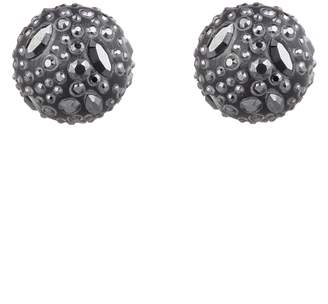Alexis Bittar Floral Noir Watery Sphere Clip-On Earrings