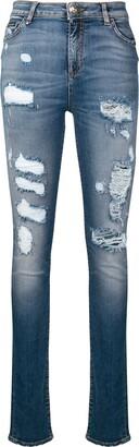 Philipp Plein Ripped Skinny Jeans