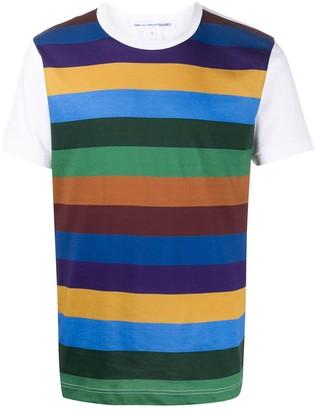 Comme des Garçons Shirt contrast-sleeve striped T-shirt