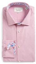Ted Baker Men's Endurance Trim Fit Dot Dress Shirt