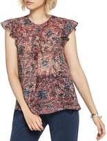 BCBGeneration Crossover-Pleat Ruffle Top