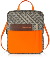 Gherardini Julieta Millerighe Fabric and Eco Leather Backpack