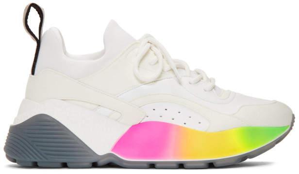 Stella McCartney White Rainbow Eclypse Sneakers
