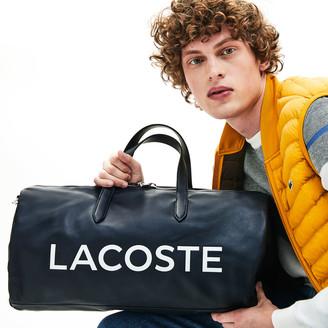 Lacoste Men's L.12.12 Signature Detachable Shoulder Strap Leather Duffel Bag